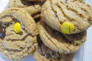 Peanut Butter Cookies with Reese's Baking Cups and Reese's Pieces Candy