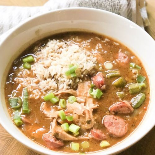 Leftover Turkey Sausage Gumbo