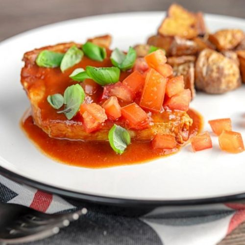 Slow Cooker Pork Chops in Tomatoes