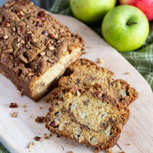 Cinnamon Streusel Apple Bread