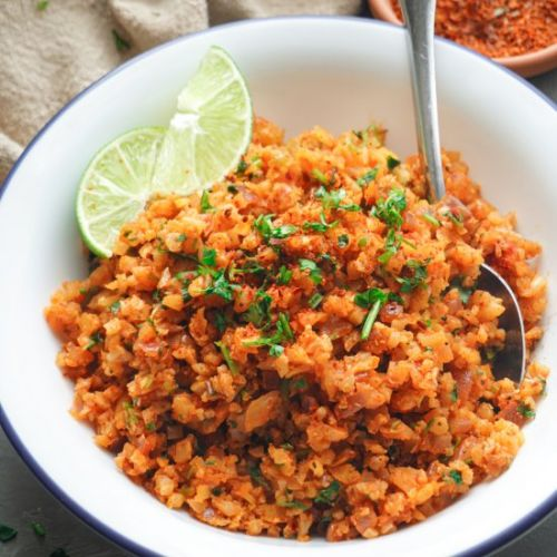 Cilantro Lime Cauliflower Red Rice