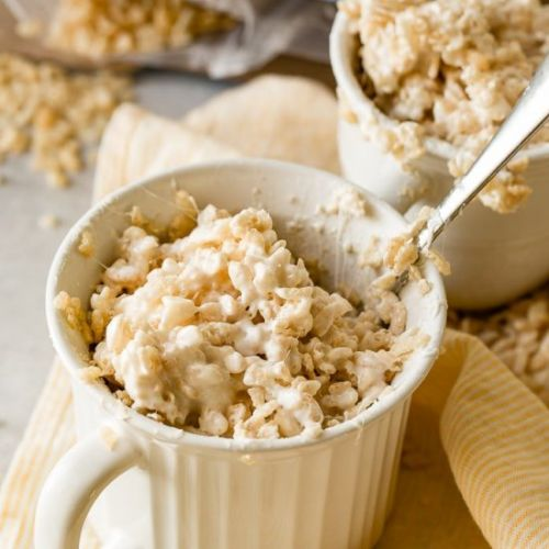 RICE KRISPIE TREAT IN A MUG FOR ONE