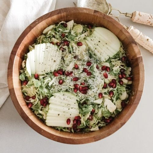 Brussel Sprout, Apple + Pomegranate